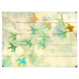 Flock of Colors Wall Decor