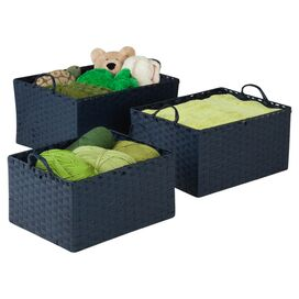 3-Piece Geneva Storage Basket Set in Blue