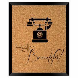 Hello Beautiful Framed Corkboard
