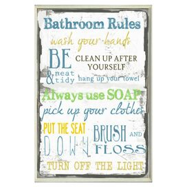 Bathroom Rules Wall Decor