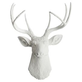 White Faux Taxidermy The Templeton Wall Decor