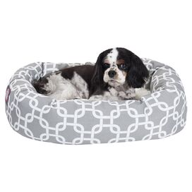 Sophia Bagel Pet Bed in Grey