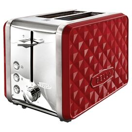 Bella Diamonds Toaster in Red