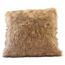 Faux Raccoon Fur Pillow Cover