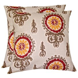 Medallion Pillow in Crimson