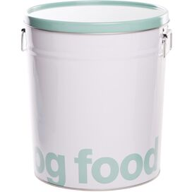 Helvetica Dog Food Canister in Green
