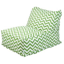 Chevron Bean Bag Chair in Sage