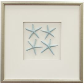 Star Fish Framed Wall Art I in Blue
