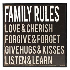 Family Rules Wall Art