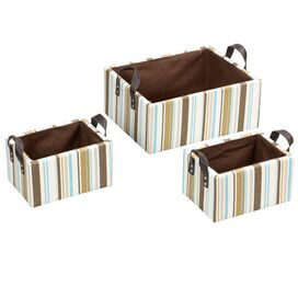 3 Piece Stripes Basket Set