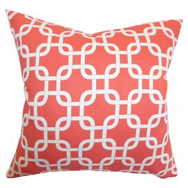 Addison Pillow in Coral