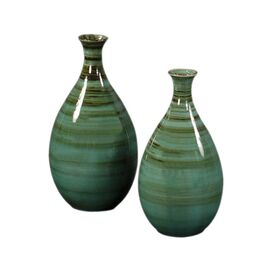 Howard Elliott 2 Piece Striped Vase Set