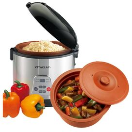 Vitaclay 4-Quart Rice N' Slow Cooker