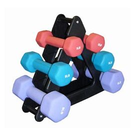 7 Piece Dumbbells and Storage Rack Set