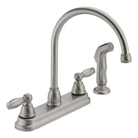 Peerless High Arc Kitchen Faucet I with Side Spray in Stainless Steel
