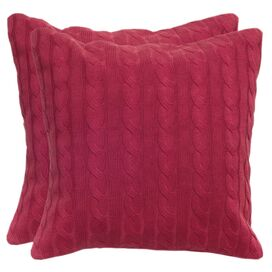 Quinn Pillow in Raspberry