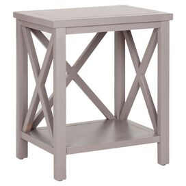 Justin End Table in Gray