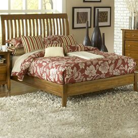 Villa Slatted Bed in Pecan