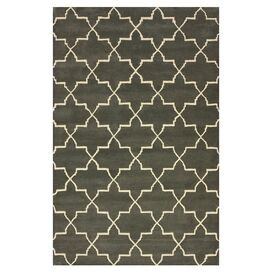 Cygnus Trellis 5' x 8' Rug in Nickel