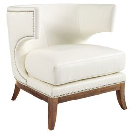 Napoli Wingback Chair in Ivory