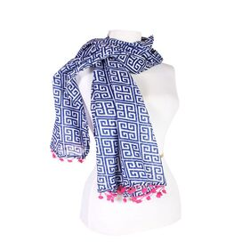Rhea Scarf in Navy