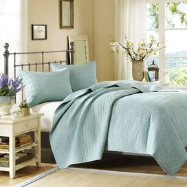 Huntington Coverlet Set in Sky