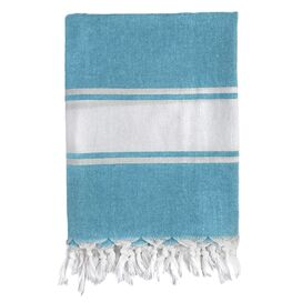 Turkish Fouta Towel in Blue