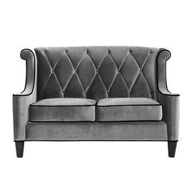 Barrister Loveseat in Gray