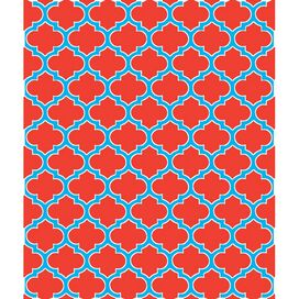 Trellis Throw in Coral & Cerulean