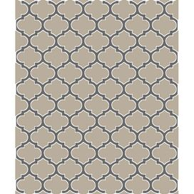 Trellis Eco Throw in Linen & Pewter
