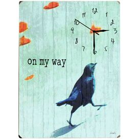On My Way Wall Clock