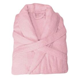 Egyptian Cotton Bath Robe in Pink