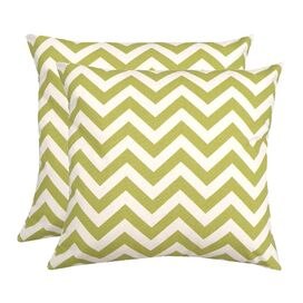 Chevron Pillow in Village Green