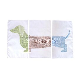 3 Piece Dachshund Tea Towel Set