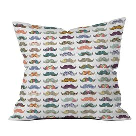 Bianca Green Mustache Mania Pillow