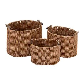 3 Piece Lana Rattan Basket Set