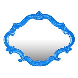 Alsatia Wall Mirror in Blue