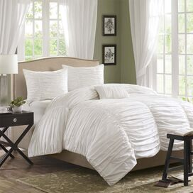 Margaux Comforter Set in White