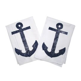 Anchor Kitchen Towel in Navy