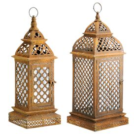 2 Piece Casablanca Lantern Set