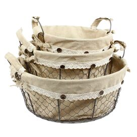 3-Piece Round Toscana Basket Set