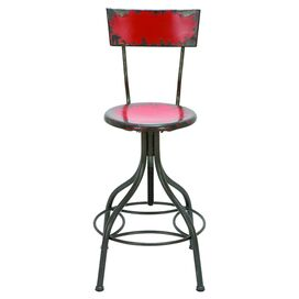 Wickenburg Barstool in Fire Engine Red