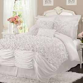4-Piece Talia Comforter Set in White