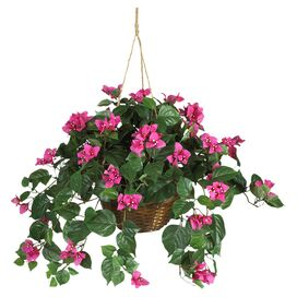 Faux Hanging Bougainvillea Arrangement