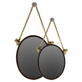 2 Piece Myers Oval Mirror Set