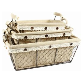 3-Piece Rectangular Toscana Basket Set