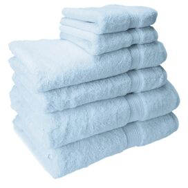 6-Piece Seneca Towel Set in Light Blue