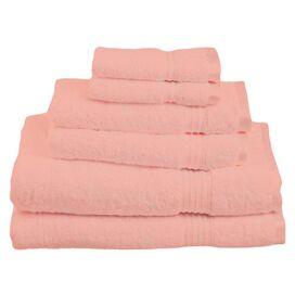 6-Piece Seneca Towel Set in Tea Rose