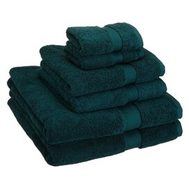 6-Piece Seneca Towel Set in Teal