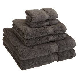 6-Piece Seneca Towel Set in Charcoal